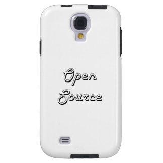 Diseño retro clásico de Open Source Funda Para Galaxy S4