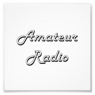 Diseño retro clásico de radio aficionado fotografías