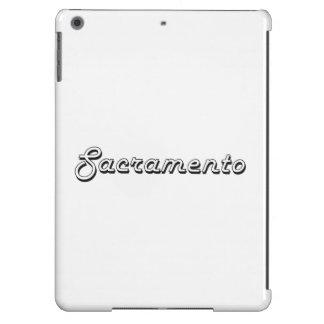 Diseño retro clásico de Sacramento California Funda Para iPad Air