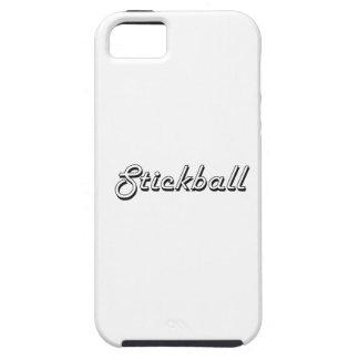 Diseño retro clásico de Stickball Funda Para iPhone 5 Tough