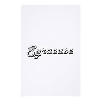 Diseño retro clásico de Syracuse Nueva York Papeleria De Diseño
