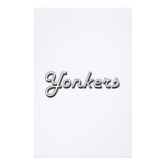 Diseño retro clásico de Yonkers Nueva York Papeleria