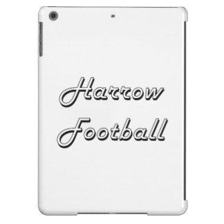 Diseño retro clásico del fútbol de la grada funda para iPad air
