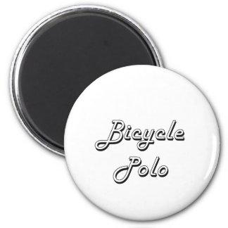 Diseño retro clásico del polo de la bicicleta imán redondo 5 cm