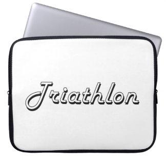 Diseño retro clásico del Triathlon Funda Ordendadores