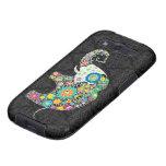 Diseño retro colorido del elefante de la flor galaxy SIII cárcasa