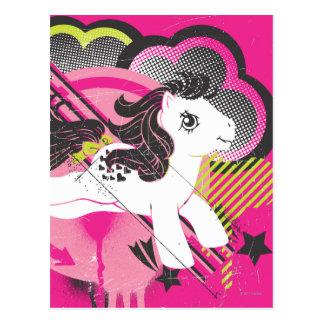Diseño retro de la nube tarjeta postal