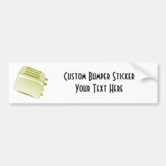 Diseño retro de la tostadora del vintage - amarill etiqueta de parachoque