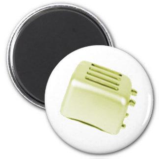 Diseño retro de la tostadora del vintage - amarill iman de frigorífico