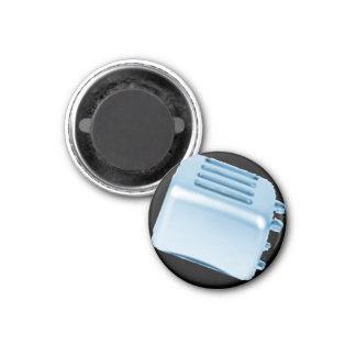 Diseño retro de la tostadora del vintage - azul imanes para frigoríficos