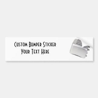 Diseño retro de la tostadora del vintage - gris de etiqueta de parachoque