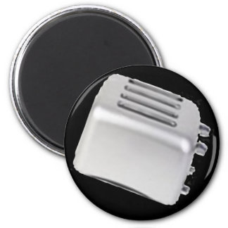 Diseño retro de la tostadora del vintage - gris de imán para frigorífico