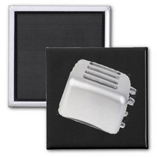 Diseño retro de la tostadora del vintage - gris de imanes para frigoríficos
