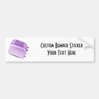 Diseño retro de la tostadora del vintage - púrpura pegatina de parachoque