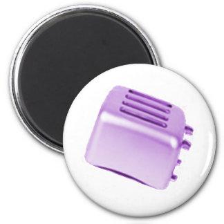 Diseño retro de la tostadora del vintage - púrpura imán