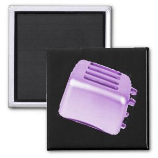 Diseño retro de la tostadora del vintage - púrpura iman