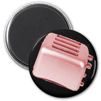 Diseño retro de la tostadora del vintage - rojo imanes para frigoríficos