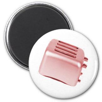 Diseño retro de la tostadora del vintage - rojo imán para frigorifico