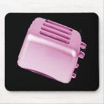 Diseño retro de la tostadora del vintage - rosa alfombrillas de ratón