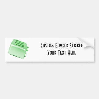 Diseño retro de la tostadora del vintage - verde pegatina de parachoque