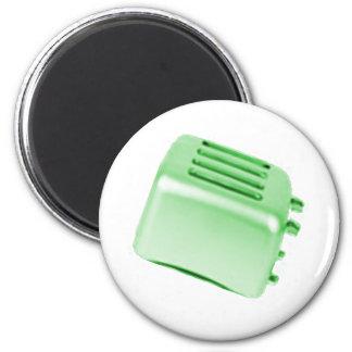Diseño retro de la tostadora del vintage - verde imán