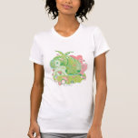 Diseño retro de las burbujas camiseta