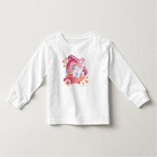Diseño retro de las nubes playera de bebé