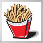 diseño retro de las patatas fritas