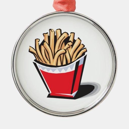 diseño retro de las patatas fritas ornamento de reyes magos