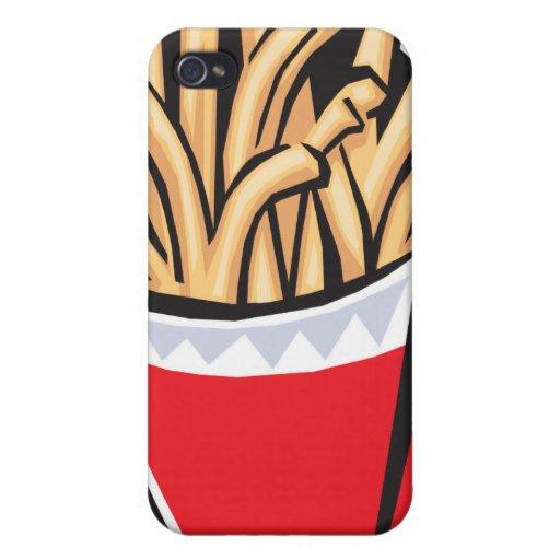 diseño retro de las patatas fritas iPhone 4/4S carcasa