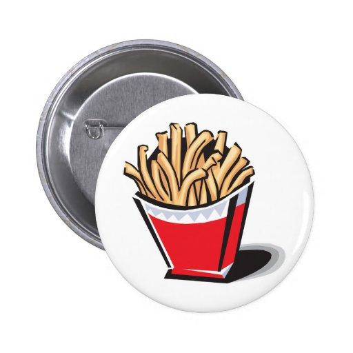 diseño retro de las patatas fritas pin