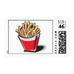 diseño retro de las patatas fritas sellos