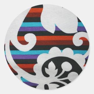 diseño retro de los años 70 pegatina redonda