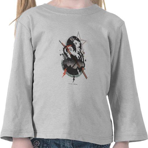 Diseño retro de los elementos camisetas