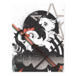 Diseño retro de los elementos postales