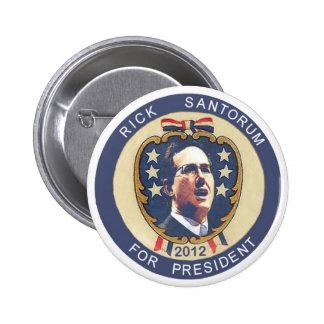 Diseño retro de Santorum 2012 Pin Redondo 5 Cm