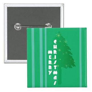 Diseño retro del árbol de navidad pin