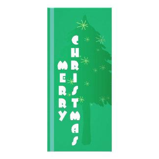 Diseño retro del árbol de navidad tarjetas publicitarias