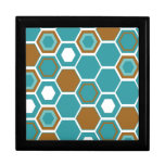 Diseño retro del arte abstracto cajas de joyas
