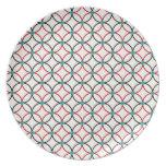Diseño retro del arte abstracto plato