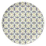 Diseño retro del arte abstracto plato de cena