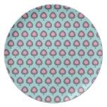 Diseño retro del arte abstracto platos