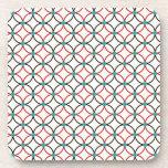 Diseño retro del arte abstracto posavasos