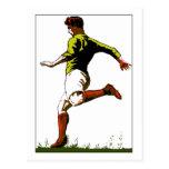 Diseño retro del arte del vector del fútbol del fú tarjetas postales