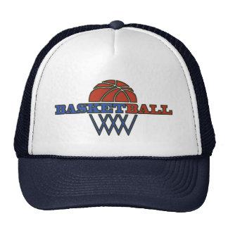 Diseño retro del baloncesto del vintage gorros