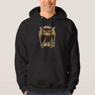 diseño retro del búho pulóver