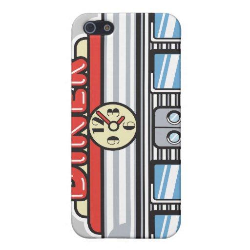 diseño retro del comensal iPhone 5 protectores