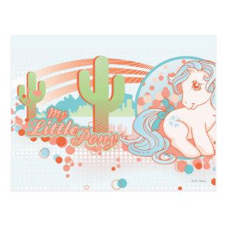 Diseño retro del desierto postal
