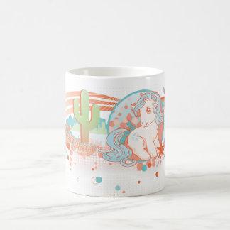 Diseño retro del desierto tazas de café