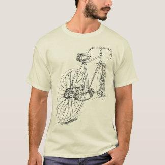 Diseño retro del dibujo de la bicicleta en negro playera